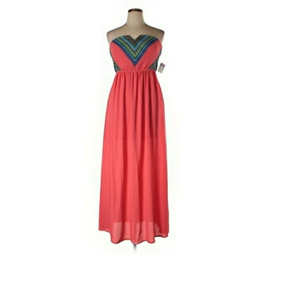 Deb Dresses & Skirts - Debs coral and blue tub dress